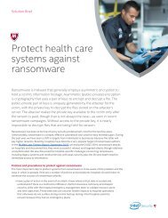 Protect health care systems against ransomware