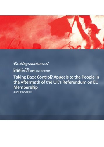 TAKING BACK CONTROL? UK'S