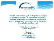 Wearable Fitness Technology Market Analysis   IndustryARC