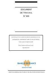 DOCUMENT DE TRAVAIL N° 600