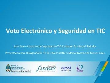 Voto Electrónico y Seguridad en TIC