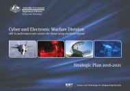 Cyber and Electronic Warfare Division Strategic Plan 2016-2021