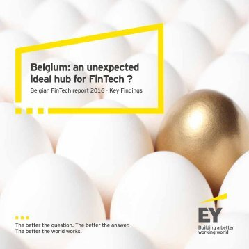 Belgium an unexpected ideal hub for FinTech ?