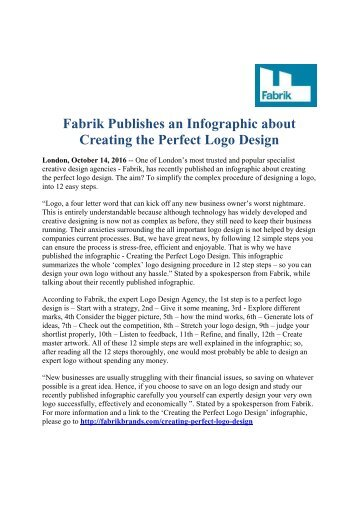 Fabrik Publishes an Infographic about Creating the Perfect Logo Design