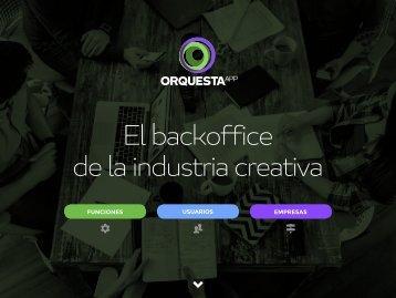 El backoffice de la industria creativa