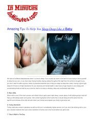 Amazing Tips To Help You Sleep Deep Like A