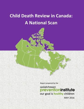 Child Death Review in Canada A National Scan
