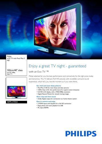 Philips LCD TV - Leaflet - AEN
