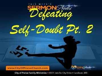 Defeating Self-Doubt Pt 2