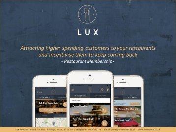 LUX Rewards Membership Benefits
