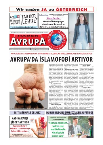 EUROPA JOURNAL - HABER AVRUPA OKTOBER 2016