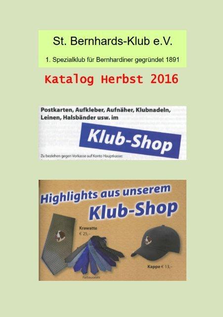 Bernhardiner katalog herbst 2016