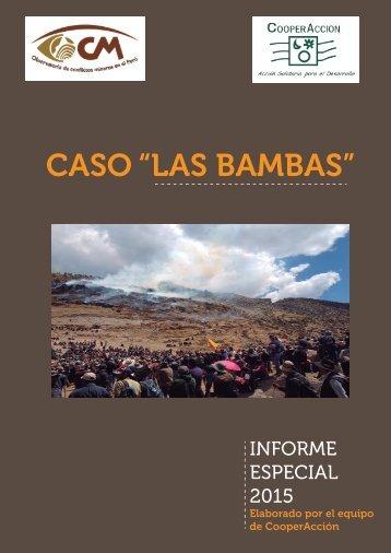 """CASO """"LAS BAMBAS"""""""