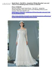 Sareh Nouri - Fall 2014 - Josephine Off-the-Shoulder Lace and Tulle A-Line Wedding Dress reviews of Oibridal