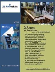 e-AN N° 33 nota N° 4 50 años de arquitectura por el arq. Carlos Sánchez Saravia