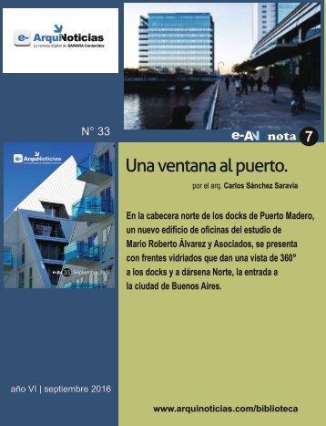 e-AN N° 33 nota N° 7 Una ventana al puerto por el arq. Carlos Sánchez Saravia