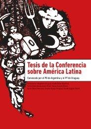 Tesis de la Conferencia sobre América Latina
