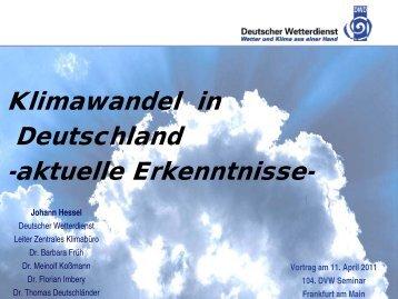 Klimawandel in Deutschland - DVW