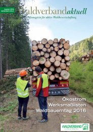Waldverband Aktuell - Ausgabe 2016-04