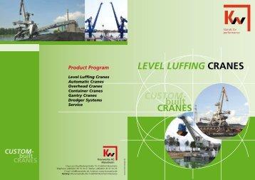 LEVEL LUFFING CRANES - KW-Kranwerke AG