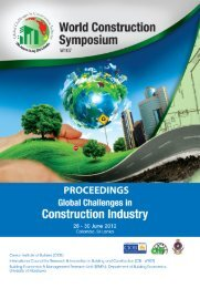 proceedings world construction conference 2012 - World ...