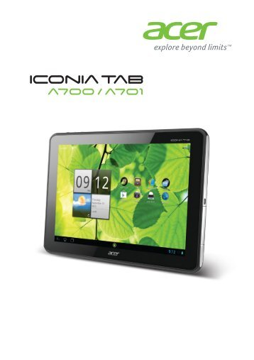 Acer A700 - User Manual (for Android 4.1 Jelly Bean)