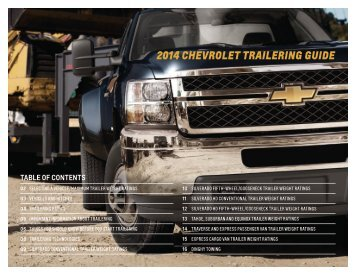 Chevrolet 2014 Traverse - Download Trailering Guide