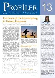 Das Potential der Wertschöpfung in Human Ressources