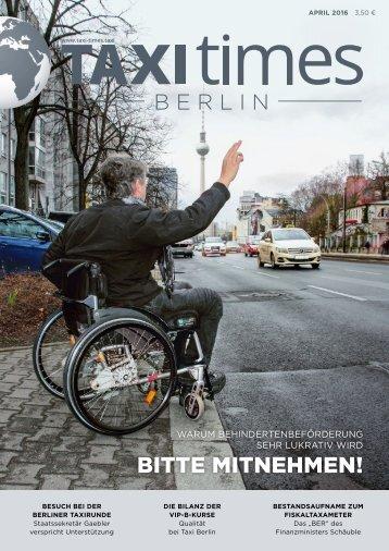 Taxi Times Berlin - April 2016