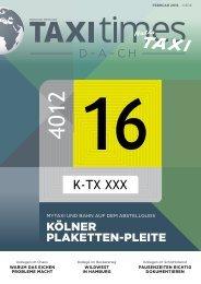 Taxi Times D-A-CH - Februar 2016
