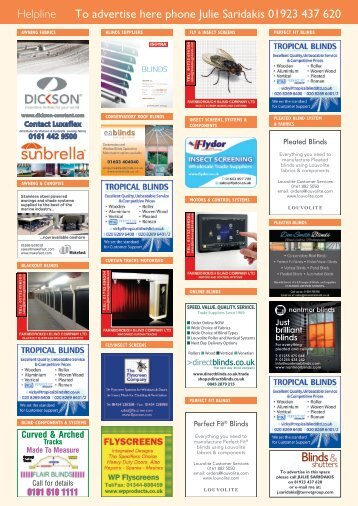 Blinds & Shutters - Issue 4/2016 - Classified pages