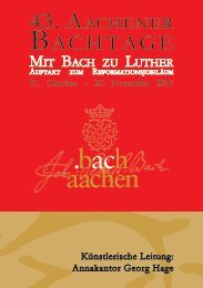 Programmheft 43. Aachener Bachtage