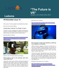 VR Newsletter edition 15