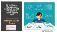 Global Talent Management Software Market Professional Survey Report 2016