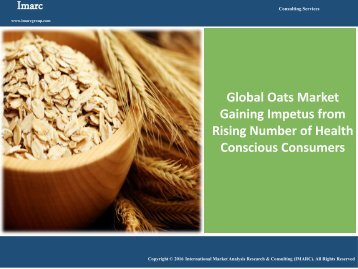 Global Oats Market Analysis | Industry Report 2016 - 2021