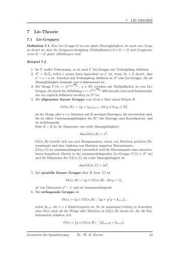 7 Lie-Theorie