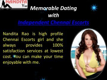 Independent Chennai Escorts by Nandu4u