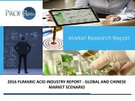 FUMARIC ACID INDUSTRY REPORT