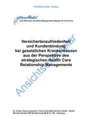 Versichertenzufriedenheit und Kundenbindung bei ... - CareHelix.de