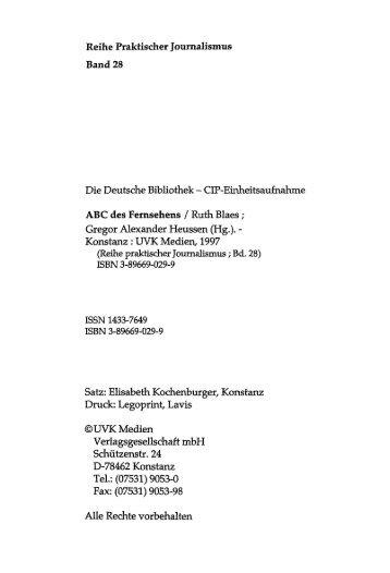 Reihe Praktischer Journalismus - KOBRA - Universität Kassel