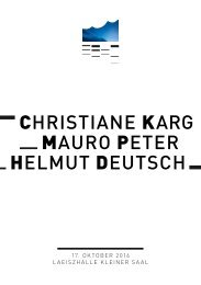 CHRISTIANE KARG MAURO PETER HELMUT DEUTSCH