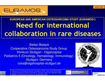 Need for international collaboration in rare diseases - MRC CTU