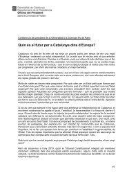 Quin és el futur per a Catalunya dins d'Europa?