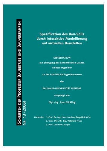 Spezifikation des Bau-Solls durch interaktive Modellierung auf