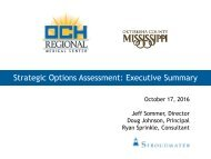 Strategic Options Assessment Executive Summary