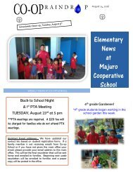 Elementary Raindrop Newsletter August 14, 2016
