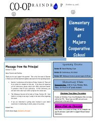 Elementary Raindrop Newsletter October 17, 2016