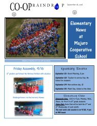 Elementary Raindrop Newsletter September 18, 2016
