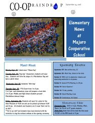 Elementary Raindrop Newsletter September 25, 2016