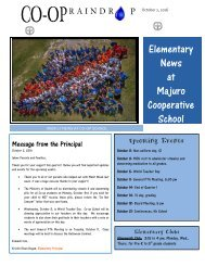 Elementary Raindrop Newsletter October 2, 2016